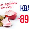 Время разбивать копилки! Квартира за 890100 рублей от ЖК Новый Город!