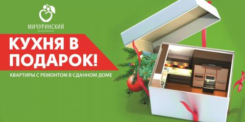 Кухня в подарок при покупке квартиры в сданном доме ЖК Мичуринский!